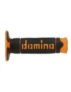 Puños Domino DSH off-road Negro - Naranja