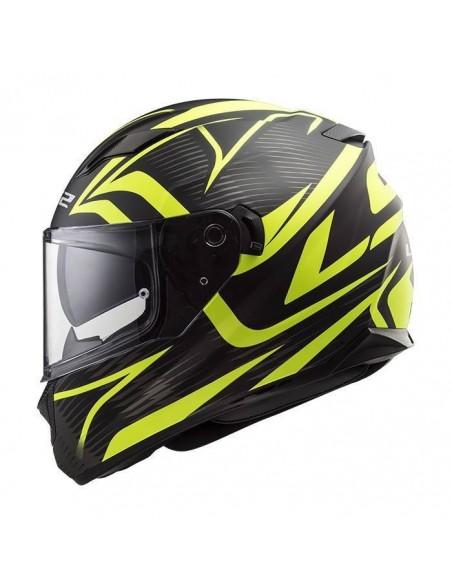 Casco moto LS2 FF320 Stream Evo negro mate
