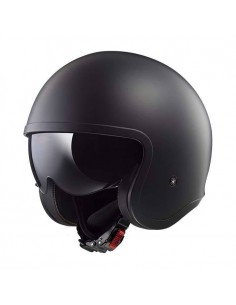 Casco LS2 OF599 Spitfire Solid | Mate negro