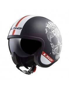 Casco LS2 OF599 Spitfire Inky | Mate negro y blanco