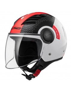 Casco LS2 OF562 Airflow L Condor | Blanco, negro y rojo