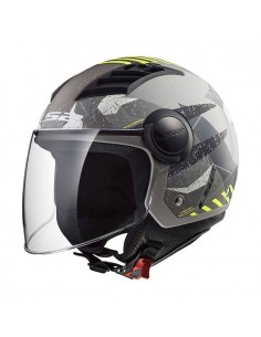 Casco LS2 OF562 Airflow L Camo | Titanio mate y amarillo