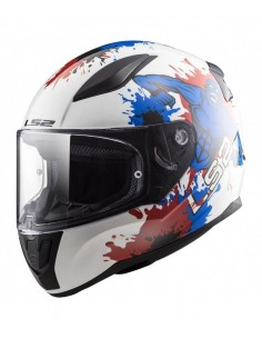 Casco LS2 FF353J Rapid Mini Monster | Blanco y azul