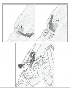 Kit Anclajes Cúpula BMW R 1200 GS (13 - 17)