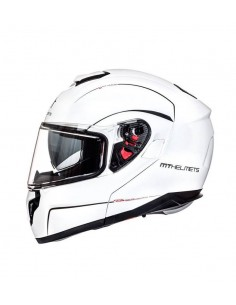 Casco MT Atom SV Solid | Blanco perla brillo
