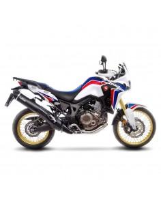 Escape Leovince Nero Honda CRF 1000 L Africa Twin Euro 3 (16-17)