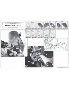 Kit Anclajes Cúpula Givi A147A BMW R 1200 R (06-10)
