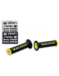 Puños Malossi Logo Amarillo Sin Tope