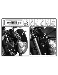 Kit Anclajes Givi A170A Suzuki GSR 600 (06-11)