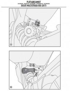 Kit Anclajes Givi PLR7406CAMKIT Ducati Multistrada 950
