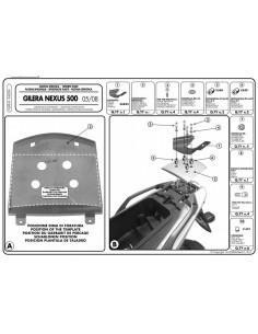 Fijación Givi E682M Gilera Nexus 125 / 250 / 300 / 500 (06-14)