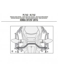 Porta Maletas Lateral Givi PL1142 Honda CB 125 F (15-17)