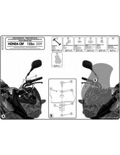 Kit Anclajes Givi D317KIT Honda CBF 125 (09-14)