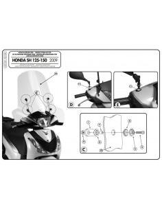 Kit Anclajes Givi A315A Honda SH 125 (09-12)