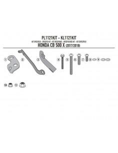 Kit Anclajes Porta maletas Lateral Givi PL1121KIT Honda CB 500 X (17-)
