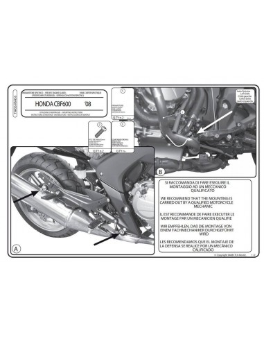 Defensas Motor Givi TN456 Honda CBF 600 S / N (08-12)