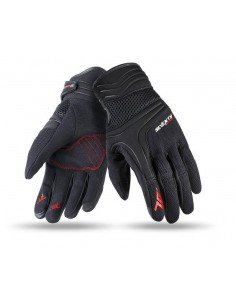 Guantes Seventy Degrees SD-C18 Scooter   Negros y fucsia