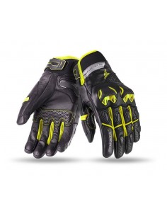 Guantes Seventy Degrees SD-N32 Racing / Naked   Negros y amarillos fluor