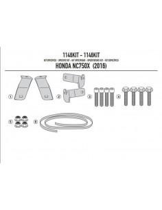 Kit Anclajes Givi 1146KIT Honda NC 750 S / X (16-17)