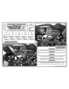 Porta Maletas Lateral Givi PLX174 Honda CBF 600 S / N (04-12)