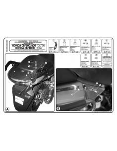 Kit Anclajes Givi PLX174KIT Honda CBF 600 S / N (04-12)