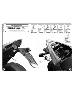 Kit Anclajes Givi 1101KIT Honda CB 1000 R (08-17)