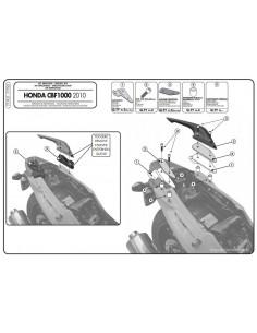 Kit Anclajes Givi 777KIT Honda CBF 1000 / ST (10-14)