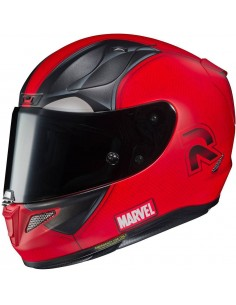 Casco HJC RPHA 11 Deadpool 2 Marvel Rojo y Negro Mate