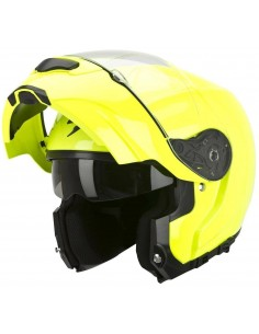 Casco Scorpion Modular Exo-3000 Air Solid - Amarillo Neón