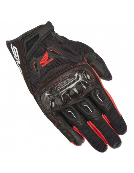 Guantes Alpinestars SMX-2 Air Carbon V2 Honda   Negro y rojo