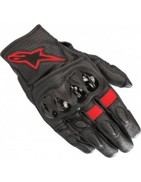Guantes Alpinestars Celer V2 | Negro y rojo fluor