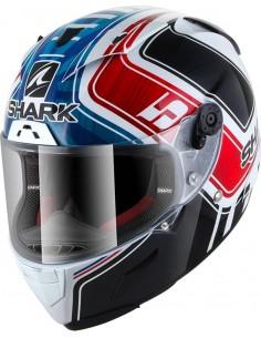 Casco Shark Race-R Pro Réplica Zarco GP de France | Blanco - azul - rojo