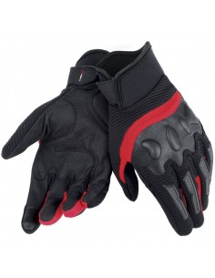 Guantes Dainese Air Frame Unisex Negros y rojos