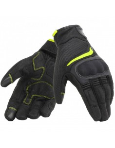 Guantes Dainese Air Master Negros y amarillos fluor