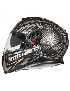 Casco MT Thunder 3 SV Isle of Man | Negro mate y dorado