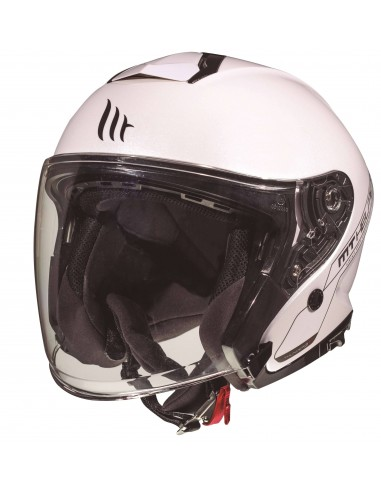 Casco MT Thunder 3 SV Jet Solid A0 | Blanco
