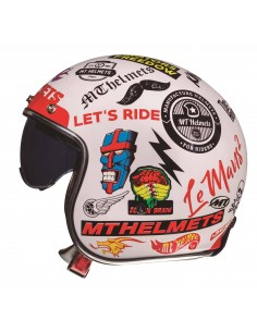 Casco MT Le Mans 2 SV Anarchy A0 | Blanco