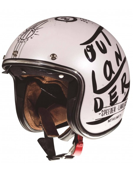Casco MT Le Mans 2 SV Outlander A1 | Blanco