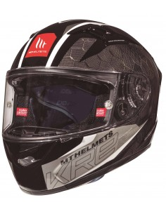 Casco MT KRE Snake Carbon 2.0 A0 | Blanco brillo