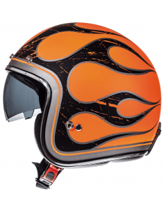Casco MT Le Mans 2 SV Flaming A0 | Naranja fluor