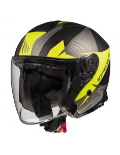 Casco MT Thunder 3 SV Jet Wing C4 | Amarillo fluor mate