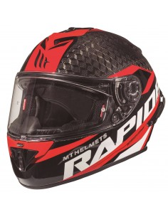 Casco MT Rapide Pro Carbon Kid C5 | Rojo