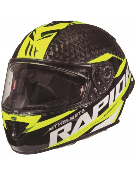 Casco MT Rapide Pro Carbon Kid C4 | Amarillo fluor