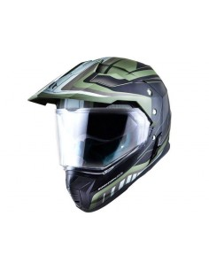 Casco MT Synchrony DuoSport SV Tourer | Verde militar y negro