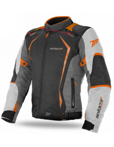 Chaqueta Seventy Degrees SD-JR47 Racing | Gris oscuro y naranja