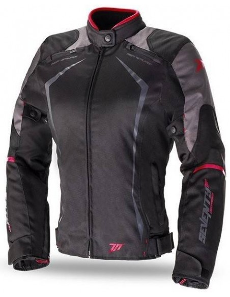 Chaqueta Mujer Seventy Degrees SD-JR49 Racing | Negra y roja