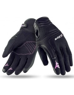 Guantes Mujer Seventy Degrees SD-C28 Scooter | Negros y fucsia