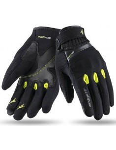Guantes Mujer Seventy Degrees SD-C26 Scooter | Negros y amarillo fluor