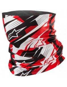 Cubrecuello Alpinestars Blurred | Negro, blanco y rojo