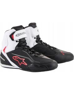 Botas Alpinestars Faster-3   Negro-blanco-rojo